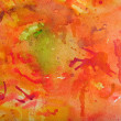 Stock Photo: Watercolor Background in Reds and Orange