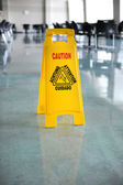 Wet Floor Caution Sign — Stock Photo