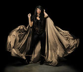 Female Vampire With Cloak — Stock Photo
