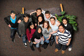 Young Men and Women of Different Ethnic Groups — Stock Photo