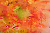 Watercolor Background in Reds and Orange — Stock Photo