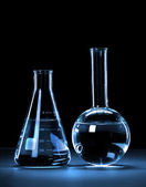 лаборатория стеклянная посуда — Стоковое фото