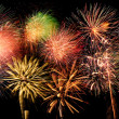 Fireworks of Different Colors and Shapes — Stock Photo