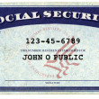 Generic American Social Security Card — Stock Photo #13812223