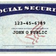 Generic American Social Security Card — Stock Photo