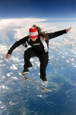 Skateboarder Above the Clouds — Stockfoto