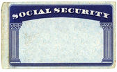 Blank American Social Security Card — Stock Photo