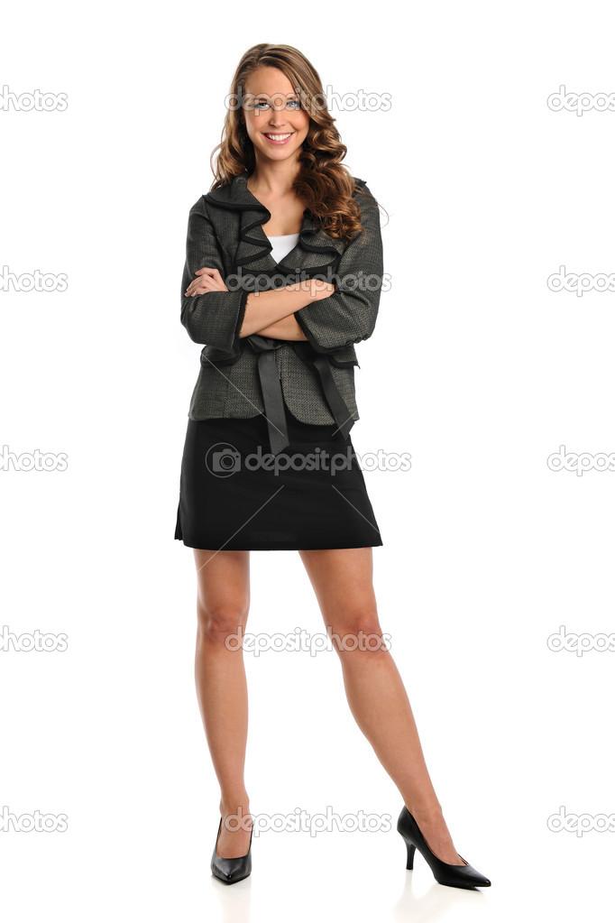 Ritratto di donna in piedi foto stock 13812006 for Piani di studio 300 piedi quadrati