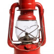 Red Railroad Lantern - Stock Photo