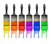 Paintbrushes With Paint — Stock Photo