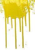 Yellow Paint Dripping — Stock Photo