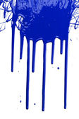 Blue Paint Dripping — Stock Photo