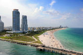 Aerial View of South Miami Beach — Stock Photo