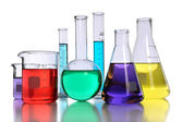 Laboratory Glassware With Liquids — Foto Stock