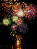 Fireworks of Multiple Colors — Stock Photo