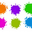 Stock Photo: Color Splatters