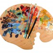 Foto Stock: Artist's Palette with Brushes
