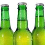 Three Green Beer Bottles — Stock Photo