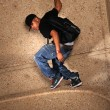 Hip Hop MStanding on Wall — Stockfoto #13992774