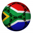 Soccer Ball With South AfricFlag — Stock Photo #13993192