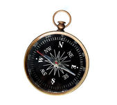 Vintage Compass Isolated Over White — Stock Photo
