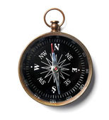 Compass Over White Background — Stock Photo