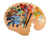 Artist's Palette with Brushes — Stock fotografie