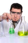 Científico que trabajaba en el laboratorio — Foto de Stock