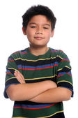 Young Boy With Arms Crossed — Stock Photo