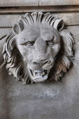 Scuplture of Head of Lion — Stock Photo
