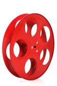 Empty Red Movie Reel — Stock Photo