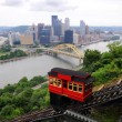 View of Pittsburgh from the Duquesne Incline — Stock Photo