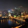 Stock Photo: Pittsburgh Skyline at Night