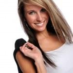 Portrait of Woman Smiling — Stock Photo
