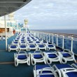 Top Deck of Cruise Ship — Foto Stock
