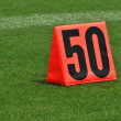 Fifty Yard Line Marker — Stock Photo