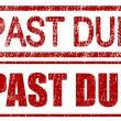 Past Due Stamps — Stock Photo