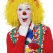Stock Photo: Clown Expressing Surprise