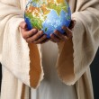 Jesus Hands Holding Earth — Stock Photo #14184640
