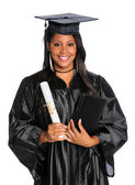 YOung Graduate Holding Diploma — Stock Photo