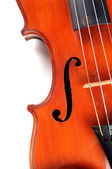 Close Up Section of Antique Violin — Stock Photo