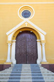 Entrance to Colonial Church — Stock Photo