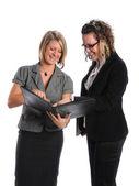 Businesswomen Sharing Information — Stock Photo