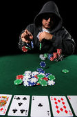 Poker Player Betting — Stockfoto