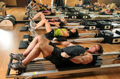 Pilates Class in a Gym — Stock Photo