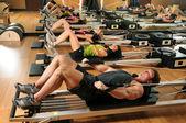 Pilates Class in a Gym — Stockfoto