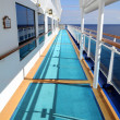 Foto Stock: Side Deck of Cruise Ship