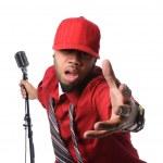 ������, ������: Man Dressed in Red Singing