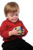 Child Holding Earth — Stock Photo