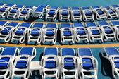 Sun Loungers On Cruise Deck — Stock Photo